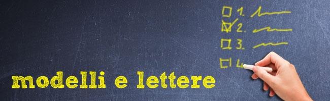 Modelli lettere e moduli assicurazioni auto e moto for Assicurazione casa on line
