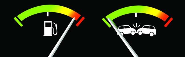 Aumento benzina, meno incidenti