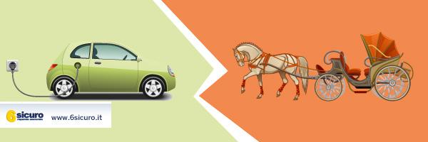 Auto elettriche al posto delle carrozze a cavallo