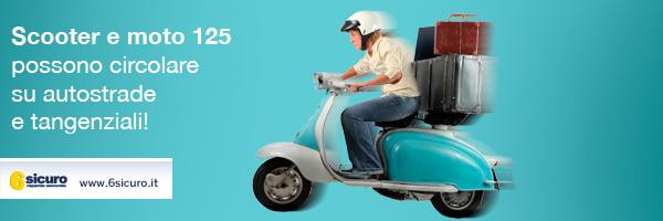 Scooter e moto 125 possono circolare su autostrade e tangenziali