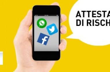 Ora l'attestato di rischio è spedito via Facebook e WhatsApp