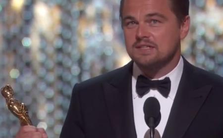 Leonardo di Caprio vince il suo primo Oscar