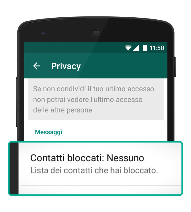 Come bloccare un numero su WhatsApp