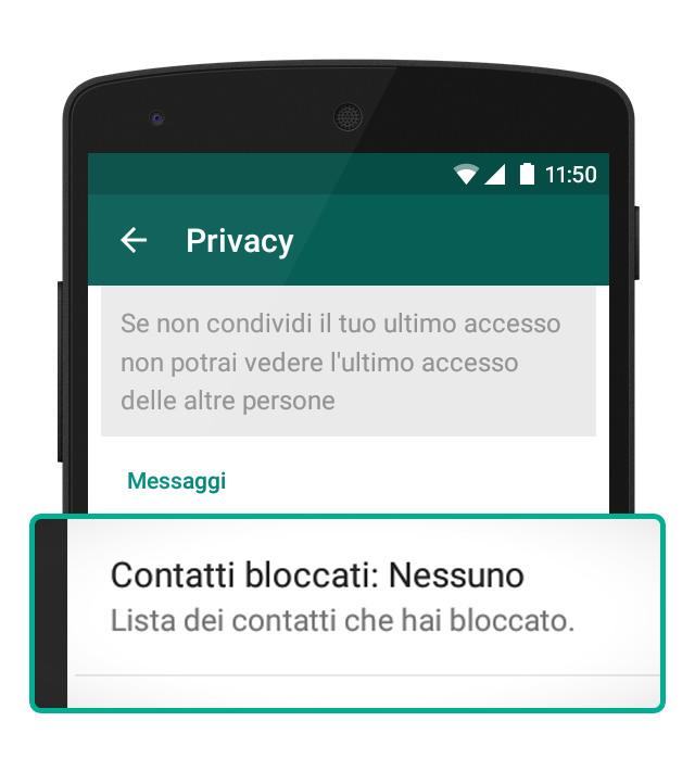 Come bloccare un numero su WhatsApp