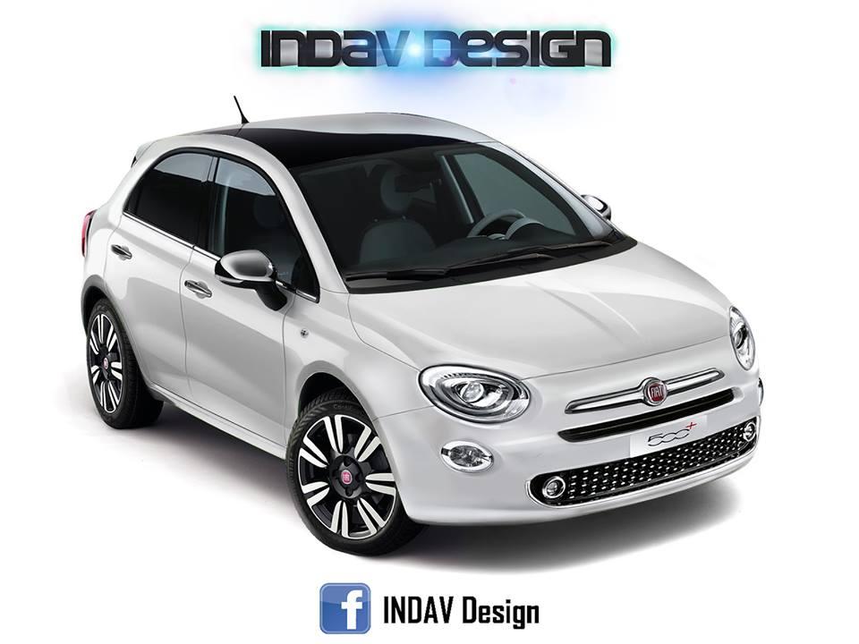 Fiat 500 5 porte indav design