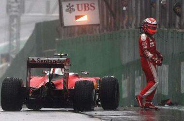 Formula 1: incidente di Raikkonen nel GP del Brasile