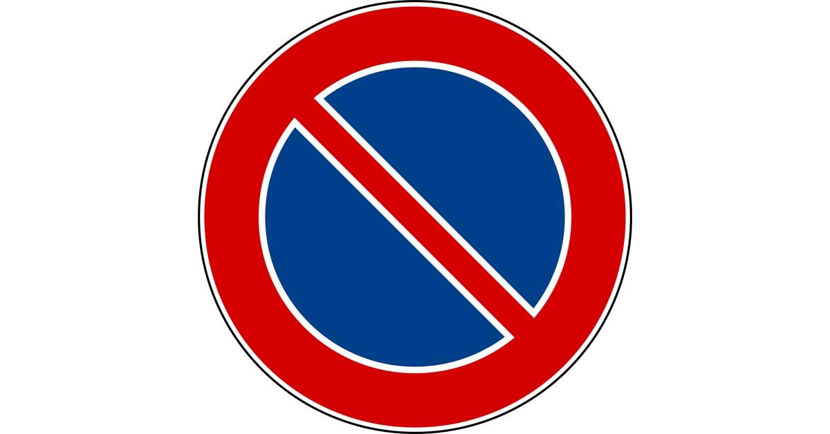 cartello divieto di sosta da