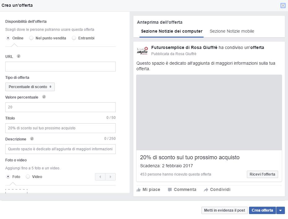 Attiva la nuova funzione vetrina di Facebook