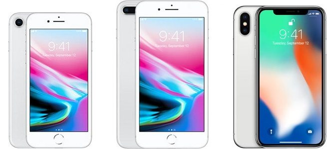iPhone 8 iPhone 8 Plus iPhone X confronto