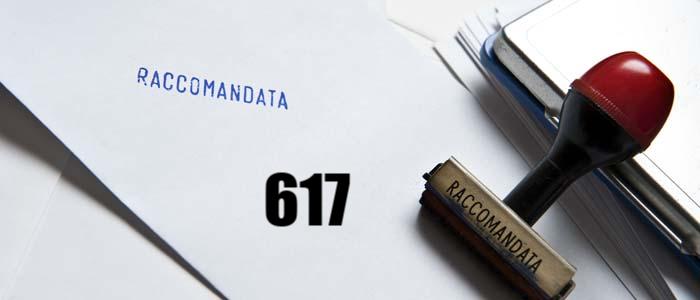 Codice raccomandata 617: cosa contiene?