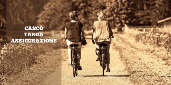 bici casco targa assicurazione