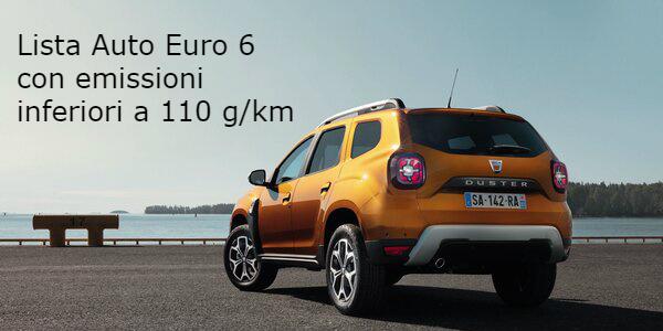 Lista Auto Euro6 con emissioni inferiori a 110 g/km
