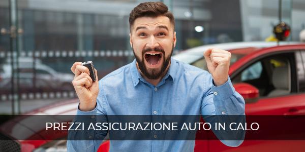 prezzi assicurazione auto in calo