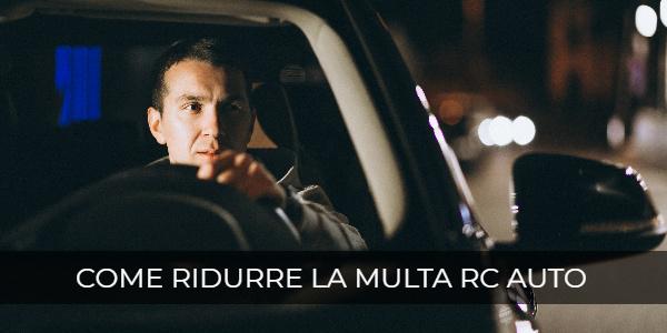 come ridurre multa rc auto