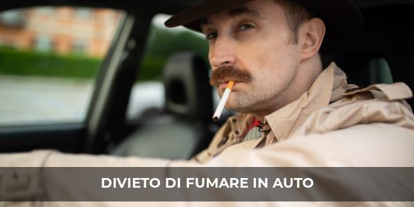 codice della strada divieto di fumo in auto